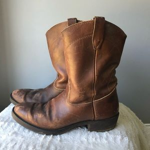 Durango Size 9.5 D Roper Boots Brown Leather